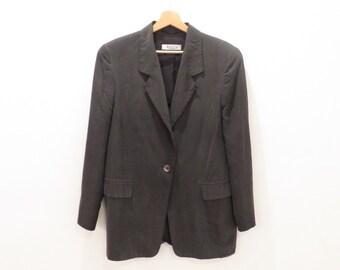 MAX MARA Marella Vintage  Silk and Rayon One Button Blazer Jacket, sz. 12