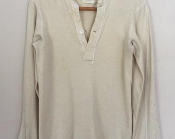 Vintage Army Henley Shirt