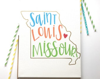 Custom State Sign - 11 x 14 Hand Lettered Canvas | Custom Canvas | Home Decor | Birthplace | City & State | Hand Painted | Painted Canvas