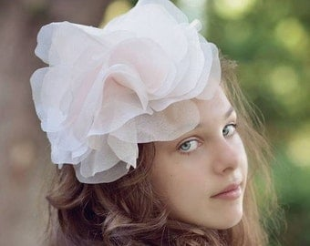 Pink Fascinator Hat, Kentucky Derby Hat, Steeplechase Hat, Famous Hat Luncheon Hat, Pink Headpiece, Ladies Day Hat, Style F-22