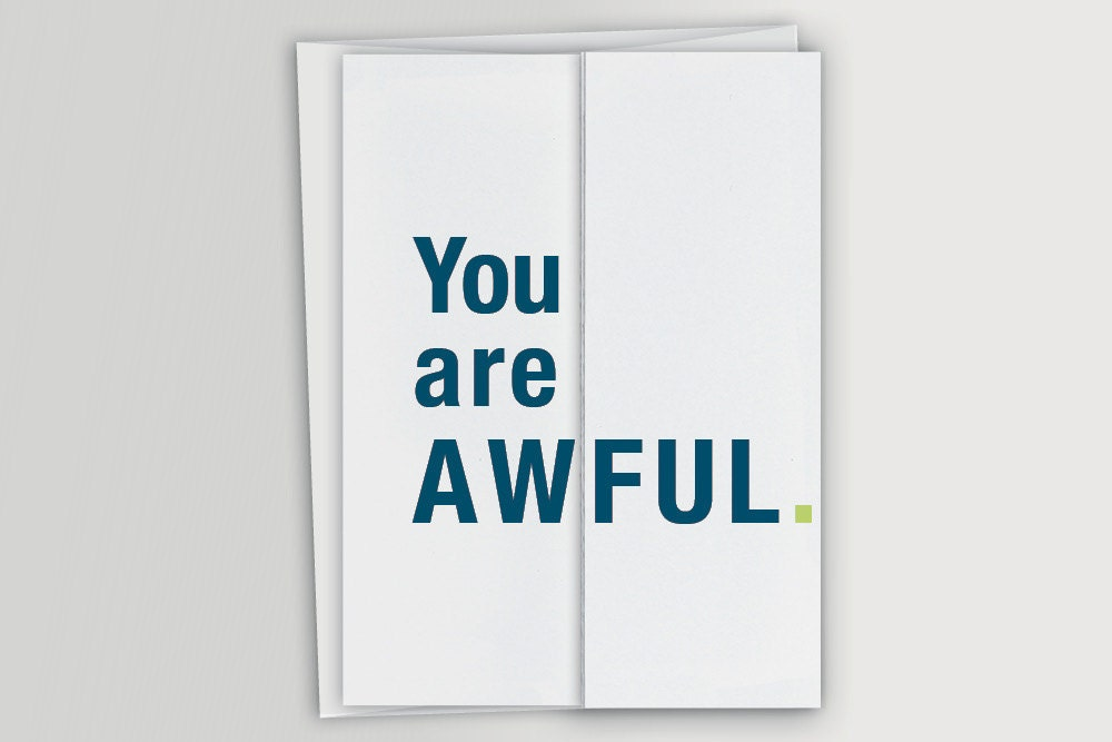 Funny greeting cards and gifts by FINCHandHARE on Etsy – Foldable Birthday Cards
