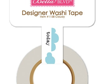 Bella Blvd Let's Go! Cloudy Designer Washi Tape, 30-ft Roll of Scrapbook/Crafting Tape