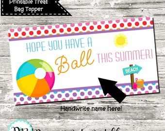 Vibrant image intended for have a ball this summer free printable
