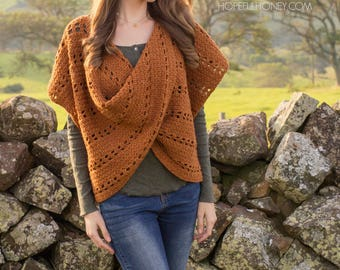 CROCHET PATTERN - Cinnamon Roll Pullover Sweater