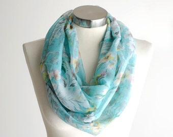 SALE, Scarf, Infinity Scarf, Flower Scarf, Floral Knit Scarf, Floral Scarf, Knit Scarf, Fashion Scarf, Winter Scarf, Scarfs, Scarves