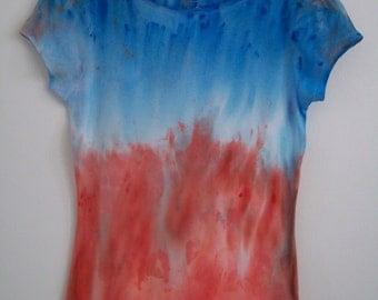 Womens Grunge Tie Dye T-shirt, Grunge Clothing.