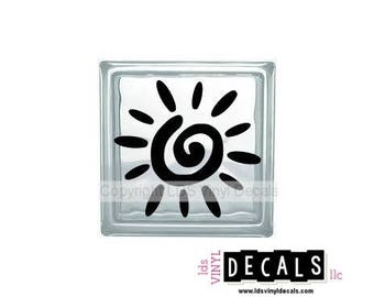 Sun - Beach and Summer Vinyl Lettering for Glass Blocks - Craft Decals