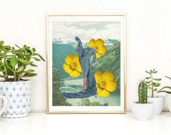 Yellow Wall Art yellow wall art | etsy