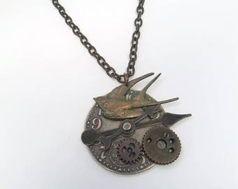 Clockwork Bird Necklace