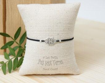 Spacer with filigree 925 silver bracelet