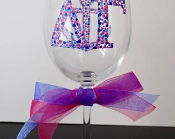 Delta Gamma Wine Glass