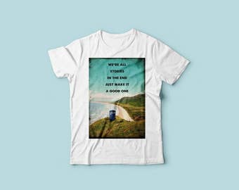 Inspired movie retro style shirt - Dr Who Beach Wales landscape - movie quote tshirt - Women - Men - 100% cotton tshirt - available S-M-L-XL