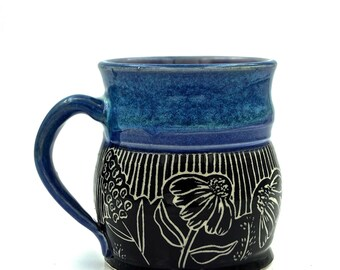 Handmade Porcelain Garden Mug