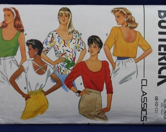 Sewing Pattern for a Woman's Top in Size 8-10-12 - Butterick 3245