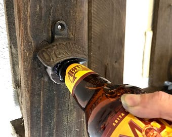 Cast Iron Beer Bottle Opener l Wall Mounted Bottle Opener l Rustic home decor l farmhouse decor