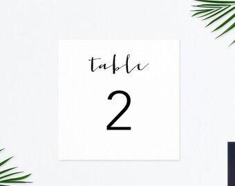 Wedding Numbers, Printable Table Numbers, DIY Wedding, Head Table Card, Reserved Card, Table Numbers Printable, Wedding Table Decor