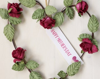 Mother's Day Rose Heart | Gift for Mothering Sunday
