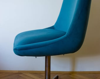 Reloved Task Chair . Peacock Blue | Upholstered Chair | Vintage Chair | Lounge Chair | Restored | Easychair | Modern Vintage | Designer Icon