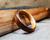 Whiskey Barrel Wood Ring - Whiskey Barrel Ring Wooden Wedding Band Wooden Ring Men Wedding Band Women Engagement Ring 5 Year Anniversary