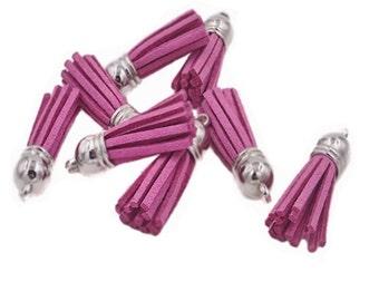 Tassels - Small Tassels - 10 Light Plum Purple - Jewelry Tassel - Decorative Tassels for Jewelry - Purse Tassel - Key Chain Tassel - TC-S043