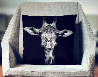 Giraffe Pillow | Giraffe Gift | Animal Gift | Giraffe Decor | Giraffe Bedding | Giraffe Pillow Case | Safari Pillow |