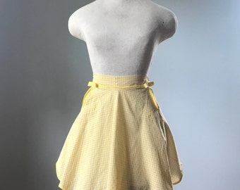 Vintage Yellow Gingham Apron