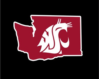 WSU Decal | Washington State University Decal | WSU Cougars Sticker | Go Cougs!