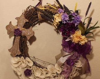 Spring Purple Wreath