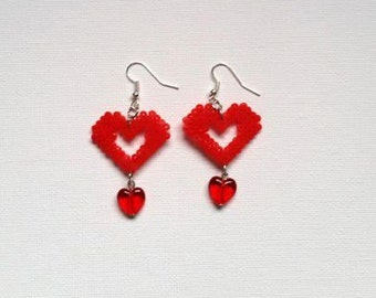 """Love Collection"" hearts earrings"