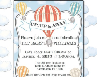 Up, Up, and Away! Baby Shower Invitation