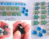 for GRACE -- Meeple brooches by Jenefer Ham Pawns Board Game Fused Glass