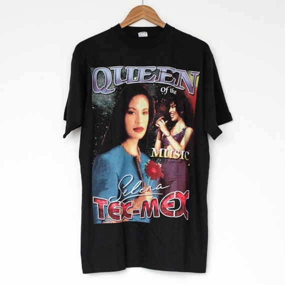 Vtg 1990s Deadstock Selena Quintanilla Double Sided T Shirt