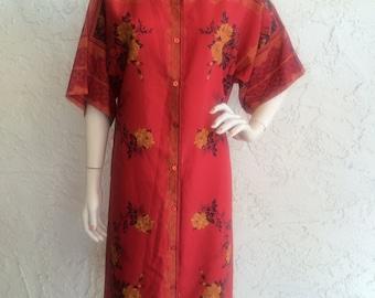 Miss Carol Vintage Red Floral Dress