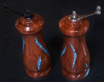 Handmade Salt & Pepper Mills~Wood~Handmade Salt and Pepper Grinders
