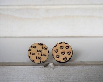 I do Cufflinks I do Wedding Cufflinks Heart Cuff Links Groom Groomsmens gifts wedding gift