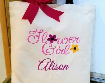 Flower Girl Tote Bag Personalized Tote Wedding Party Gifts