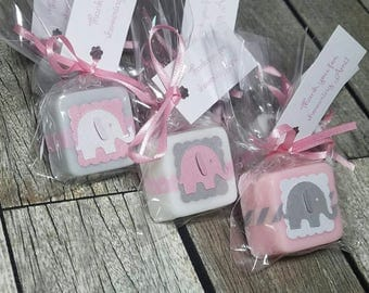 Baby Shower favors girl, Elephant baby shower girl, baby shower favor soaps - Choose your own colors