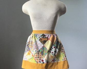 Vintage Marigold Patchwork Apron