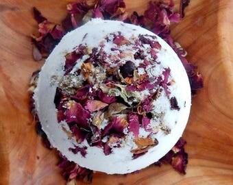 Natural Bath Bomb-Organic Bath Bomb-Rose Petal Bath Bomb-Rose Bath Bomb-Rose Bath Fizzie-Rose Bath Fizzy--Rose Essential Oil--Rose Soap--Spa