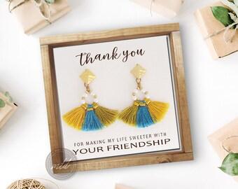 Bohemian tassel earrings, Boho earrings, Gypsy earrings, Hippie earrings, Bohemian earrings, Gift for her, Fringe earrings, Bridesmaid gift