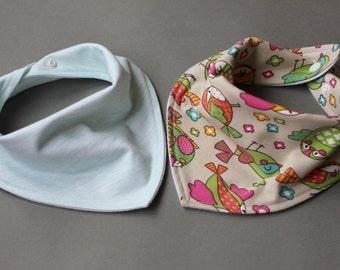 Scarf bib set, Scarf bib for baby, Baby girl scarf bib, Toddler bibs, Bibs for girls, Baby bibs, Bandana bib girl, Baby girl bibs, Girl bib