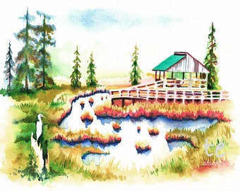 "Fine Art Print, ""Southern Swamp, Scene 2"""