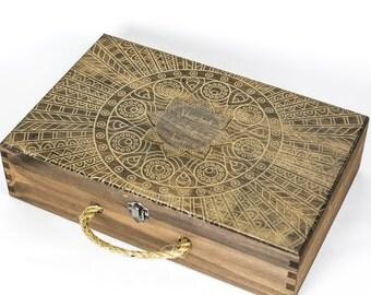 Mandala Keepsake Box, Travel Keepsake Box, Memory Box