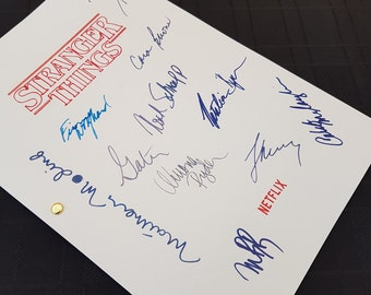 Stranger Things TV Script with Signatures/Autographs Reprint Netflix