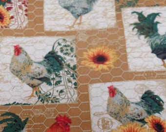 French  Roosters    By   Rebecca  Baer   for Penny  Rose Fabrics