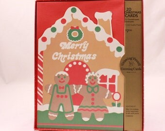 Vintage Drawing Board Merry Christmas Cards Box Set. 20 Cards & 21 Envelopes. USA