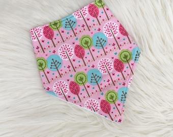 Baby Dribble Bib, Toddler bib, Pretty Bib, Tree Bib, Flower Bib, Baby Gift, Baby Shower, Baby Girl, Handmade in the UK