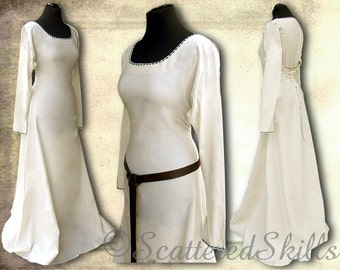 Medieval dress, undergarment for LARP, medieval, fantasy - made