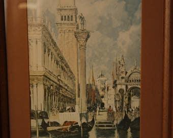 Framed Watercolor Print, Venice Art Print, Framed Digital Print, The Landing at Malo by F. (Frances) Hopkinson Smith, Renaissance period,