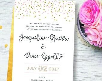 Wedding Invitation Printable   Wedding Invitation Set   Wedding Invitation Suite   Wedding Invitation PDF   Printable   Blush and Gold